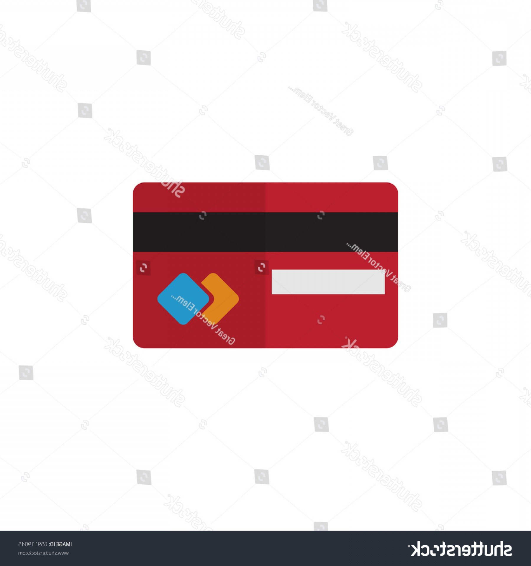 MasterCard Credit Card Logo Vector: Isolated Credit Card Flat Icon Payment