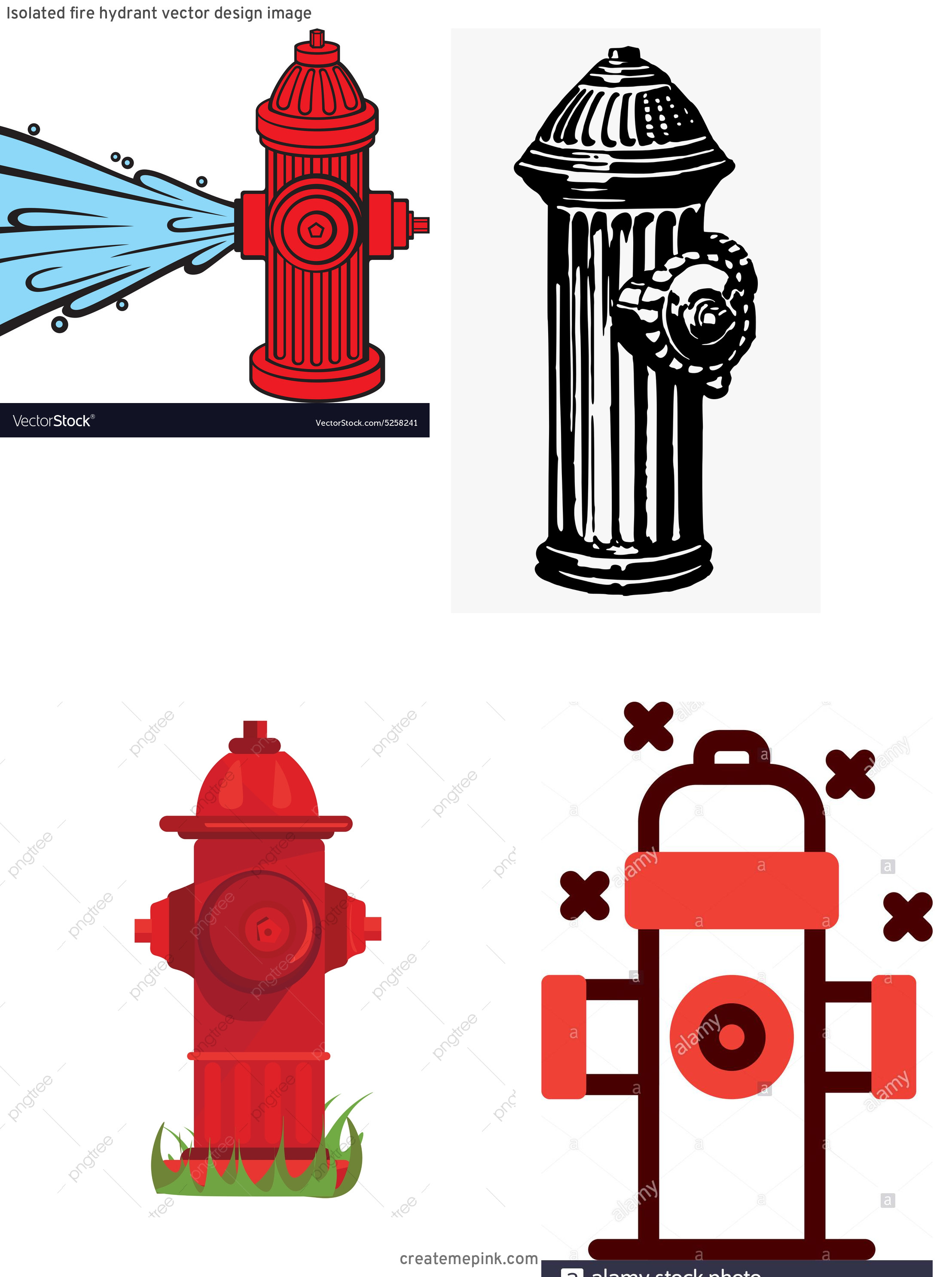 Fire Hydrant Vector Clip Art: Isolated Fire Hydrant Vector Design Image