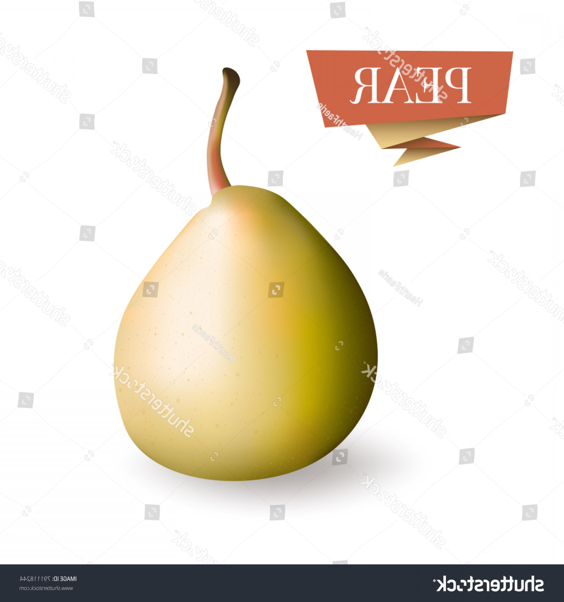 Pear Vector Shutterstock: Isolated Picture Pear Fruit D Vector