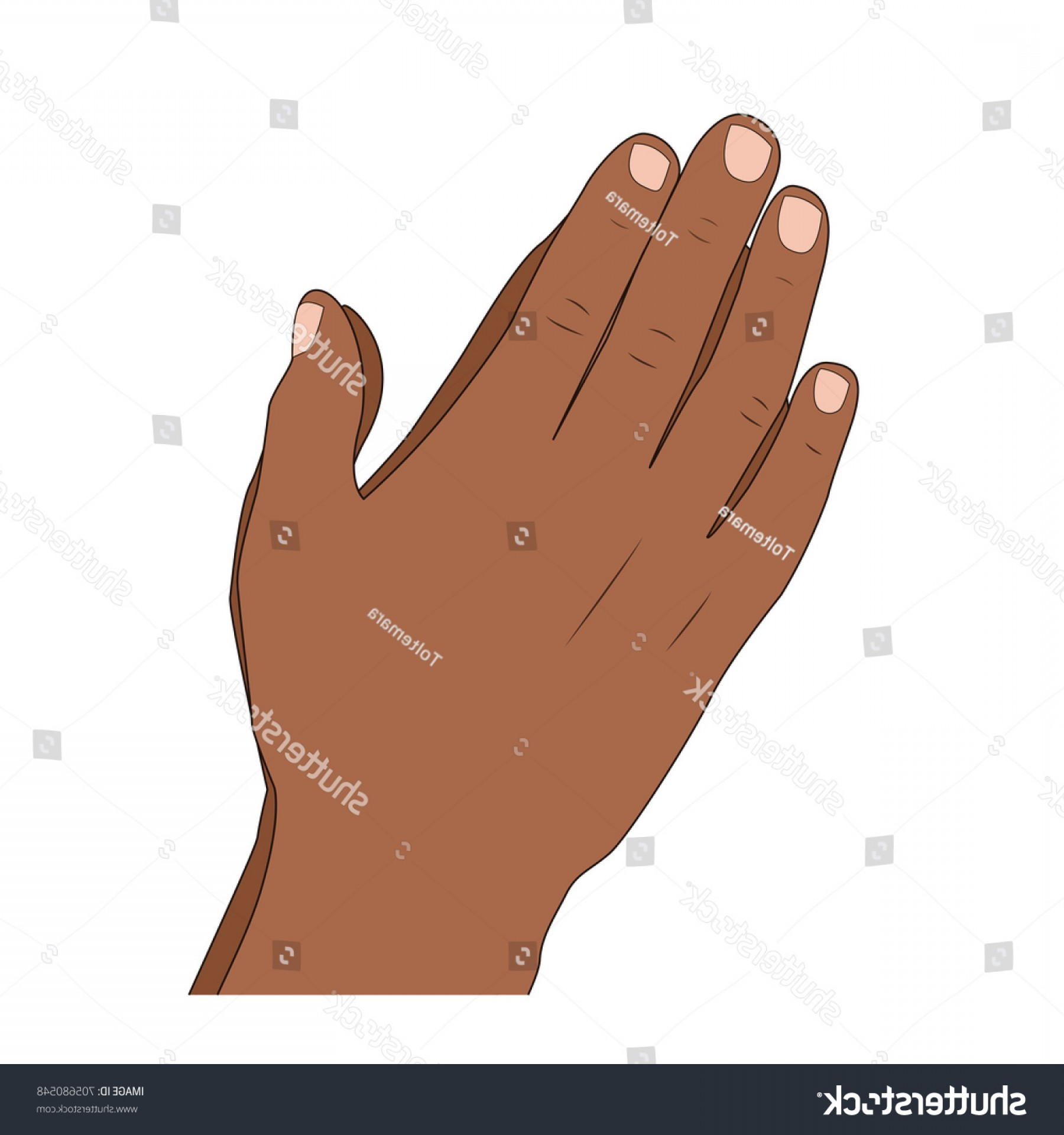 Praying Hands Vectors Shutterstock: Isolated Praying Hands Gesture Palms Together