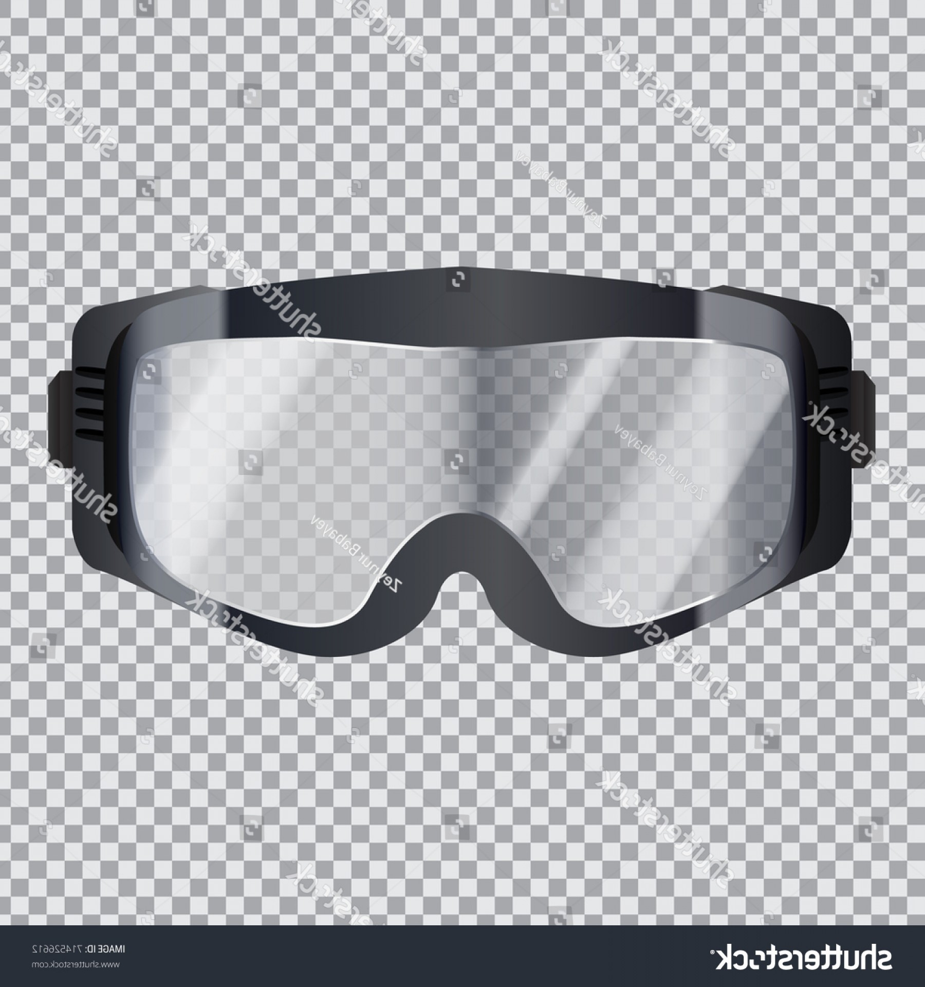 Transparent PNG Vector Skier: Isolated Realistic Ski Goggles Transparent Glass