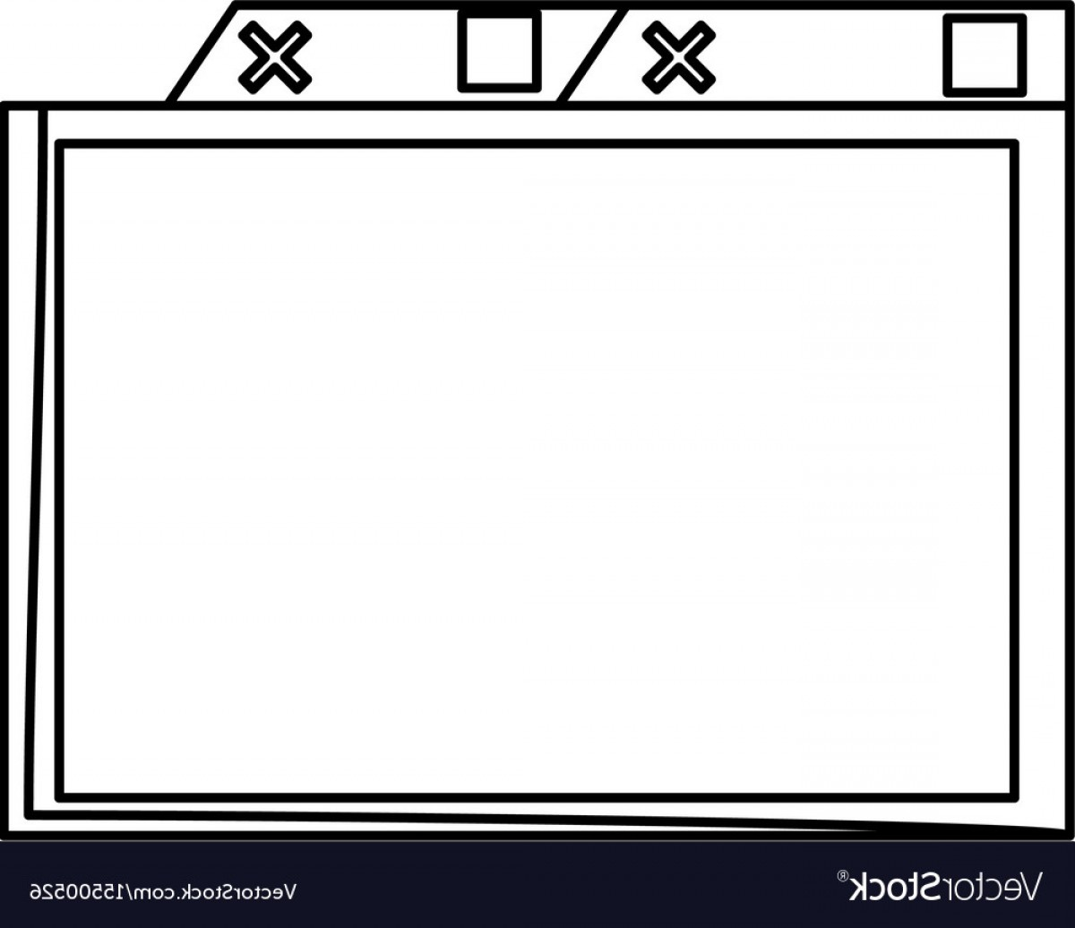 Windows 8 Phone Icon Vector: Isolated Simple Browser Window Vector