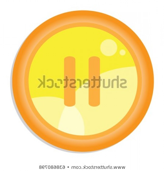 Pause Symbol Vector: Isolated Web Button Pause Symbol Vector