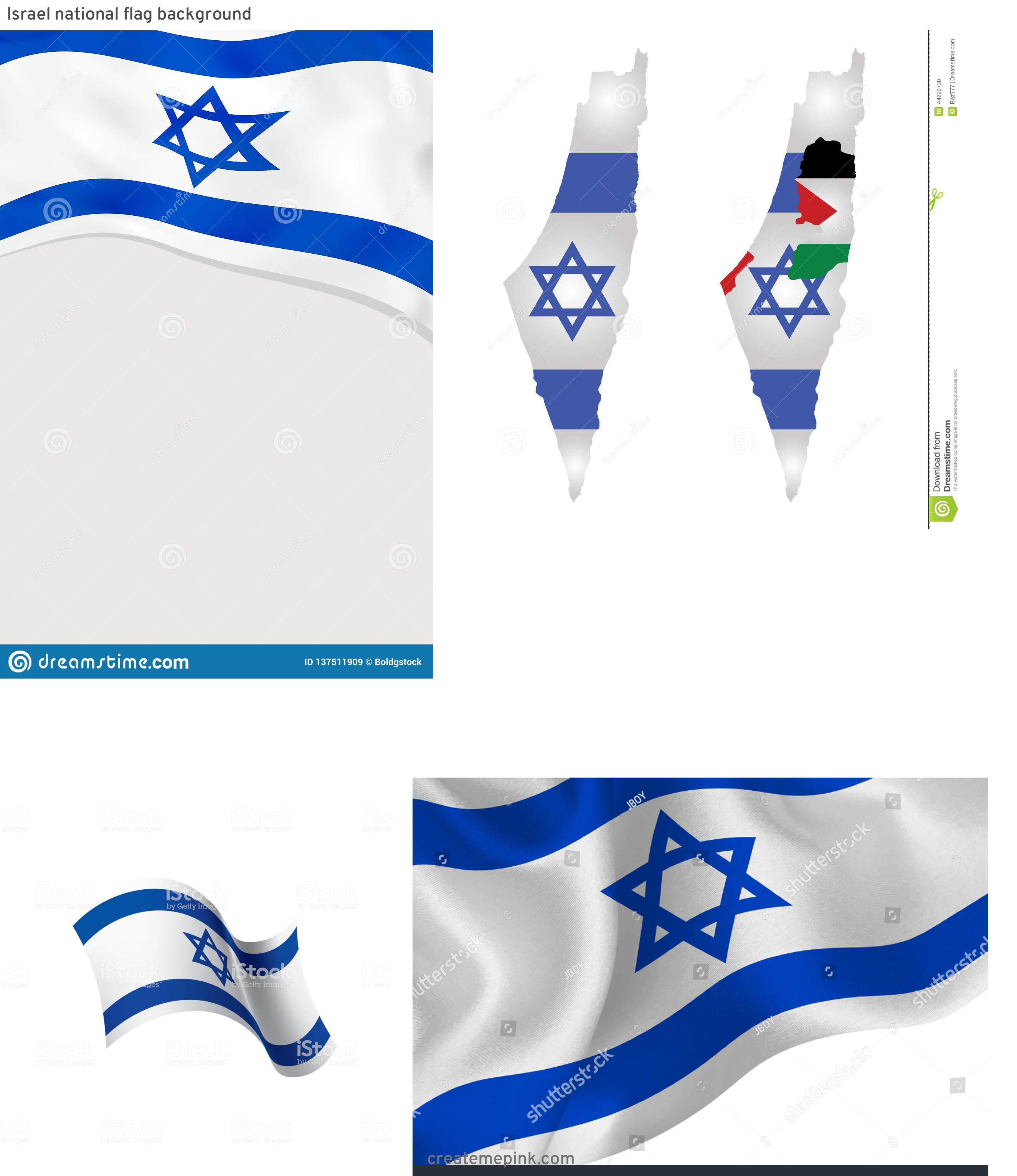 Israel And New Jersey Flag Vector: Israel National Flag Background