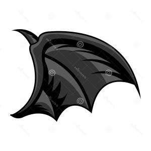 Detailed Tattoo Vector Images: Isolated Detailed Colored Tattoo Bat Wing Vector Isolated Bat Wing Tattoo Image