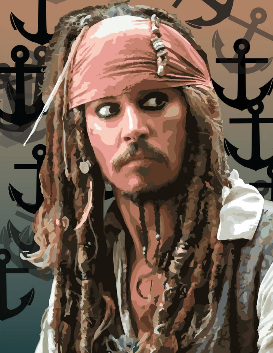 Jack Sparrow Vector Logo: Jack Sparrow Vector Portrait Done In Illustrator