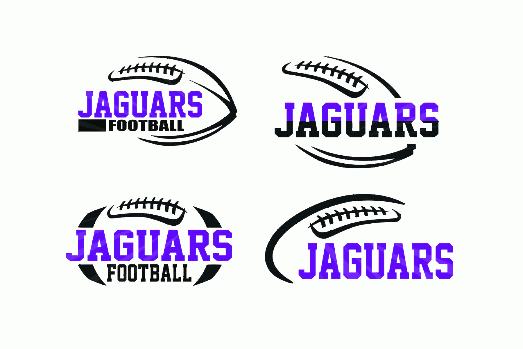 Football Laces Vector Silhouette: Jaguars Football Svg Bundle Pack Laces
