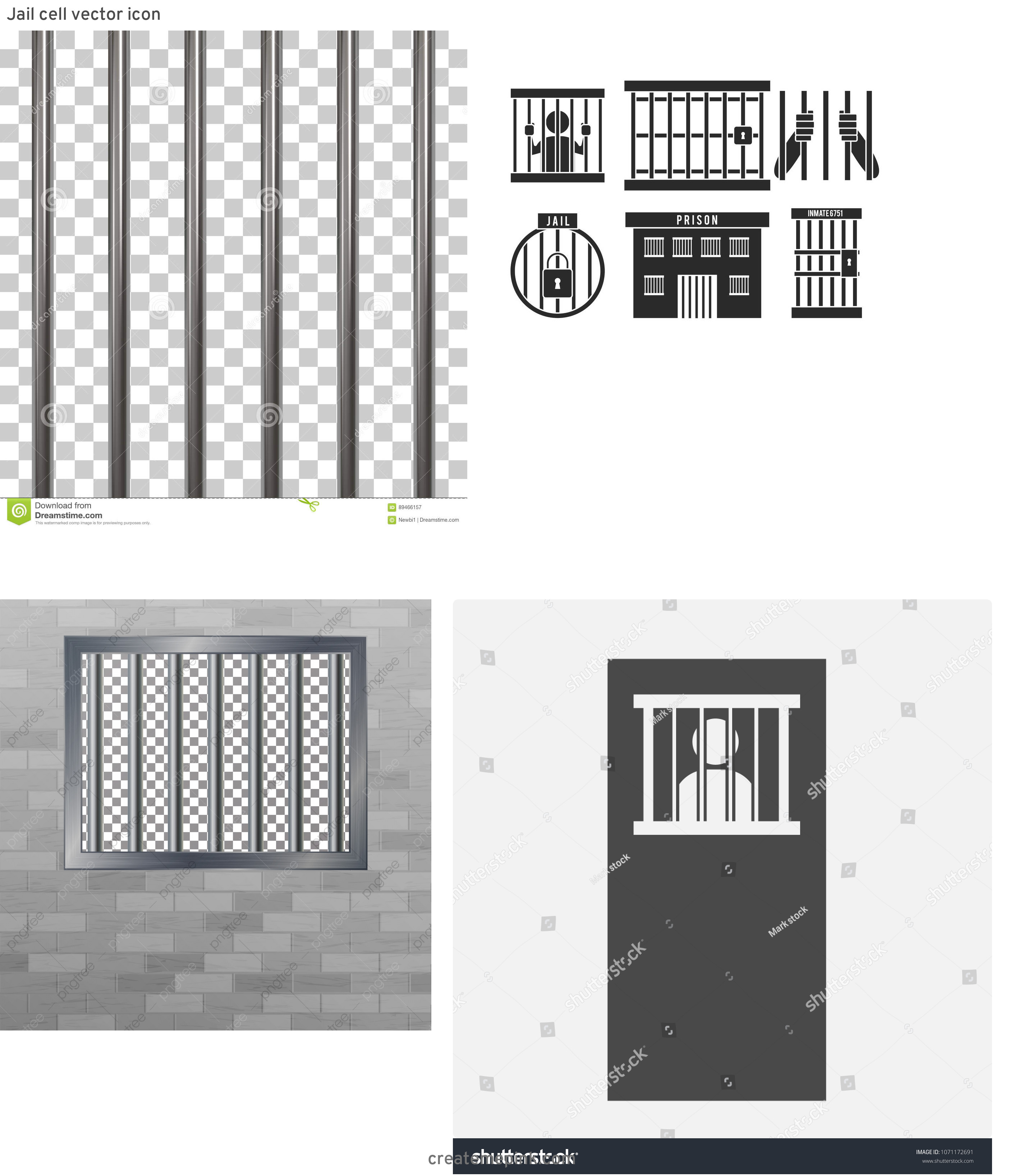 Jail Cell Vector: Jail Cell Vector Icon