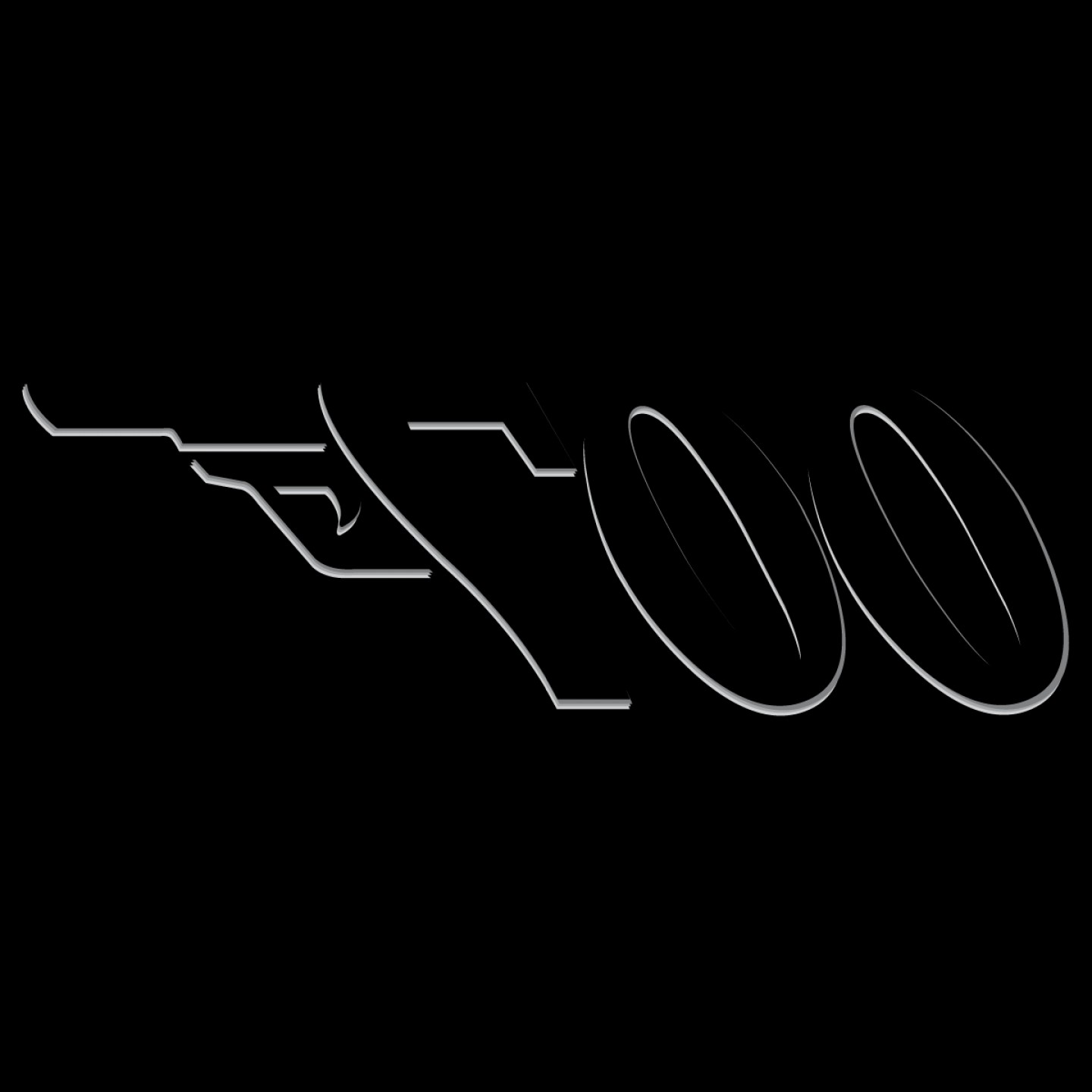 James Bond Silhouette Vector: James Bond Gun Logo Vector