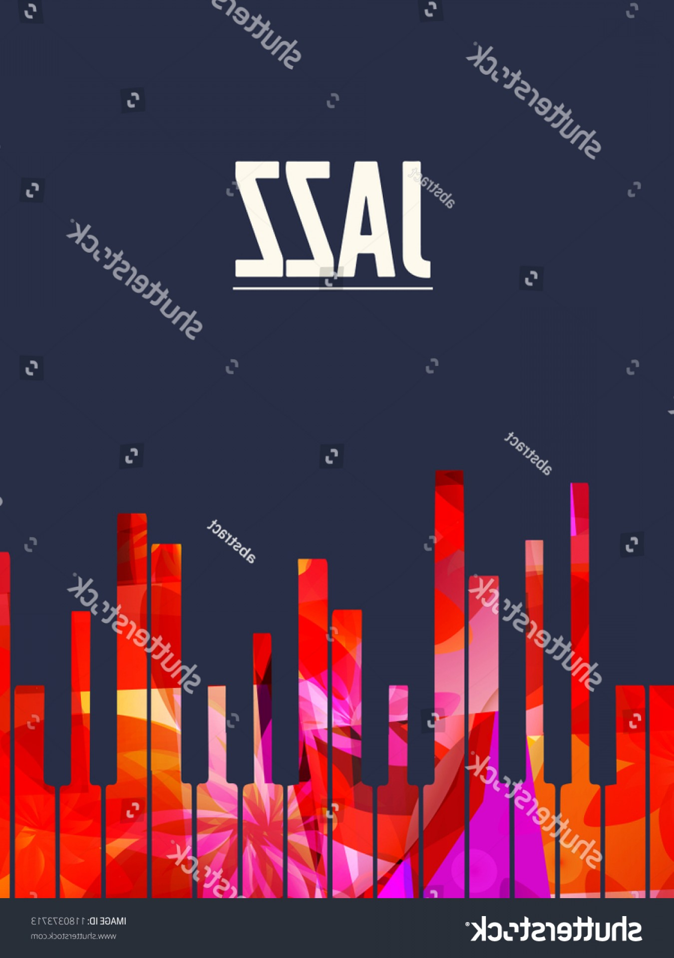 Gospel Music Background Vector: Jazz Music Background Colorful Piano Keys