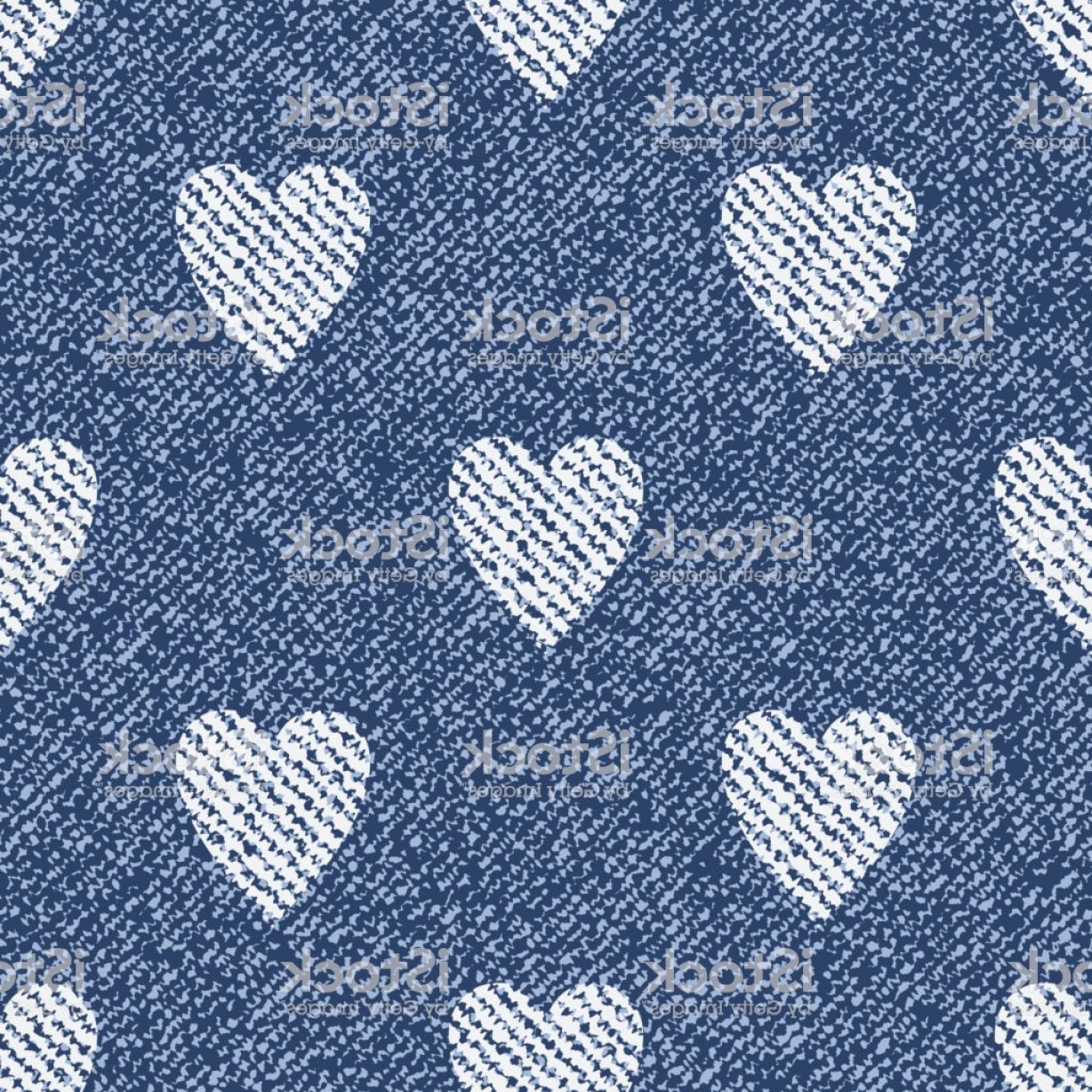 Denim And Pearls Vector: Jeans Background With Hearts Vector Denim Seamless Pattern Blue Jeans Cloth Gm