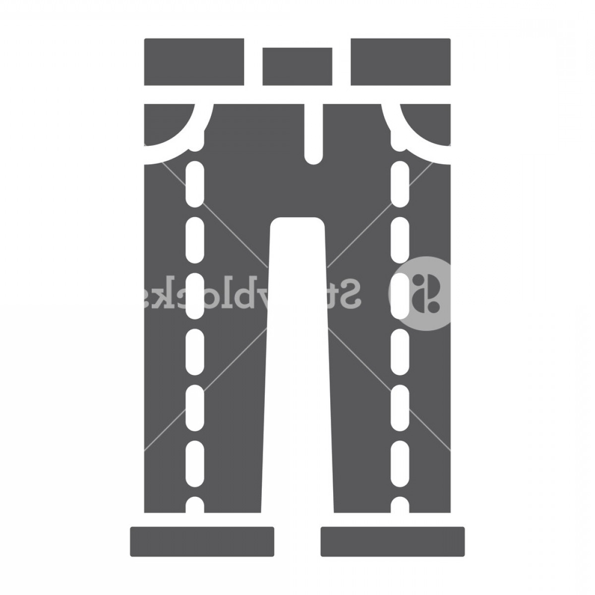 Vector Black Jeans: Jeans Glyph Icon Clothing And Denim Trousers Sign Vector Graphics A Solid Pattern On A White Background Hfxjcajohhr