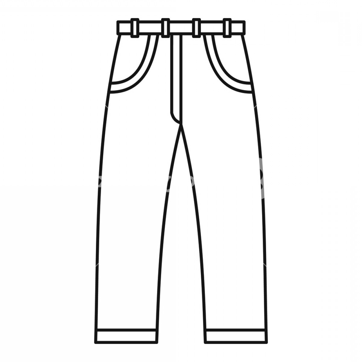 Vector Black Jeans: Jeans Icon Outline Illustration Of Jeans Vector Icon For Web Hdmkonfkmjhpyygg