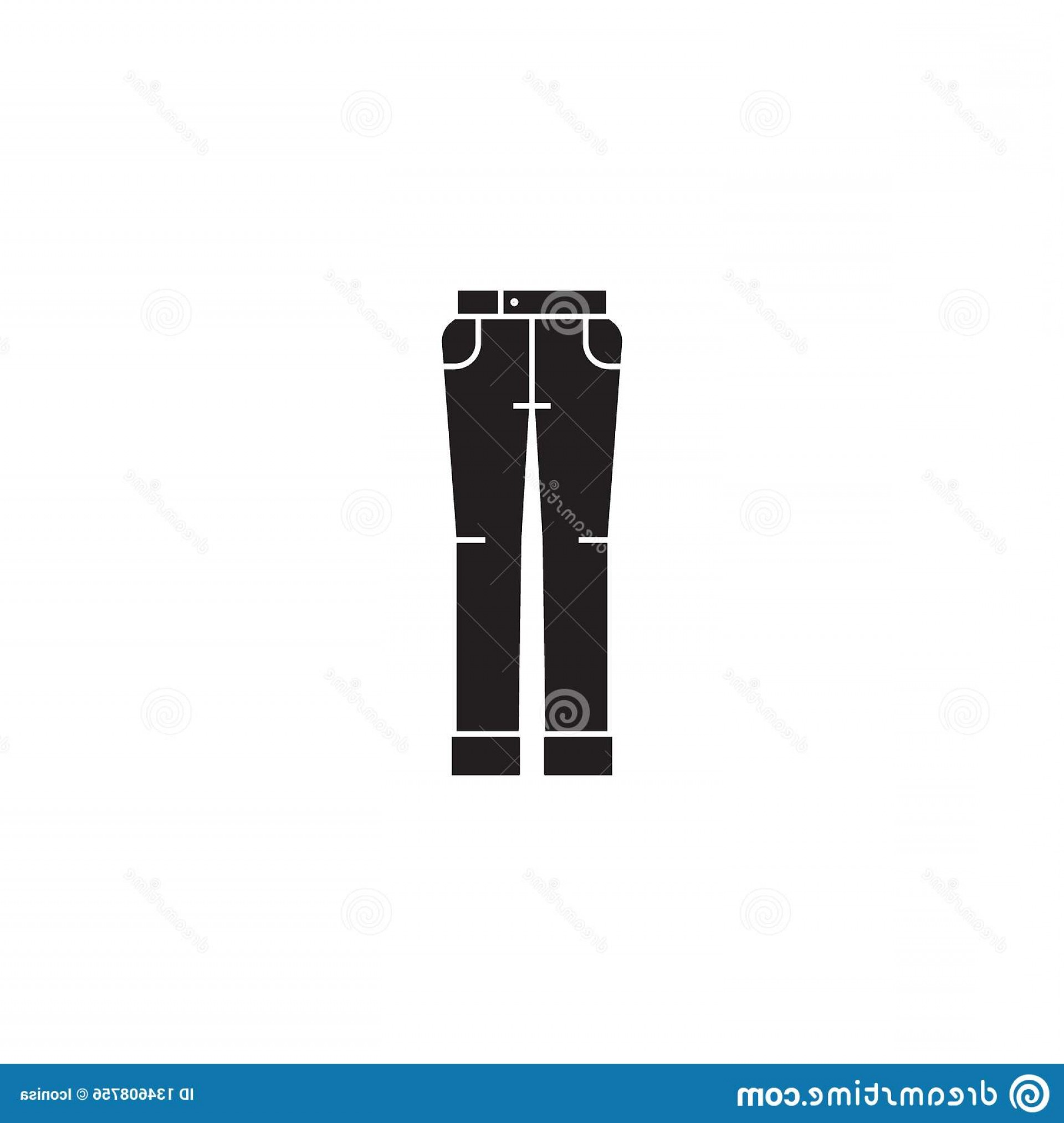 Vector Black Jeans: Jeans Wear Black Vector Concept Icon Jeans Wear Flat Illustration Sign Jeans Wear Black Vector Concept Icon Jeans Wear Flat Image