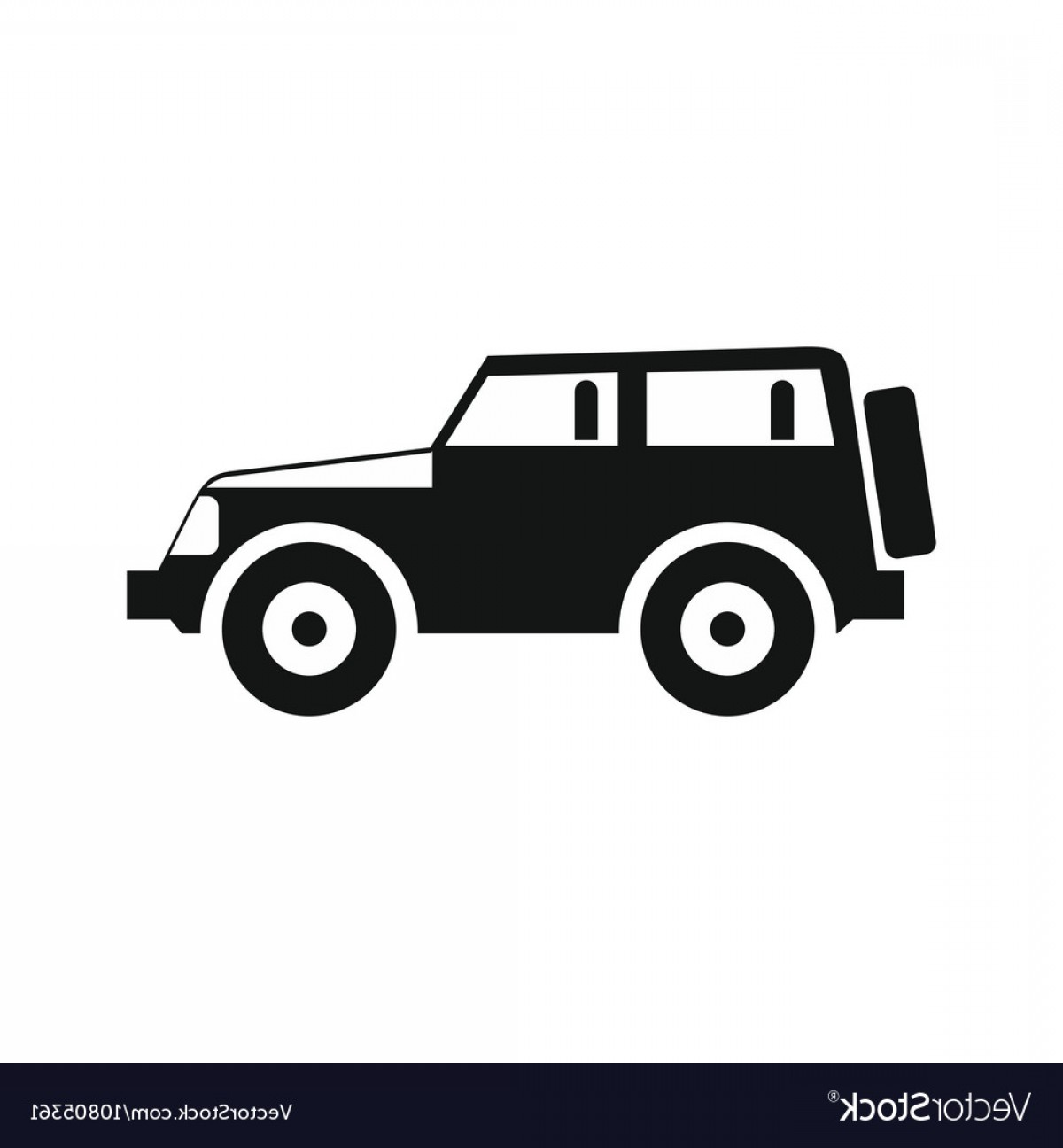 Jeep Tire Vector: Jeep Icon In Simple Style Vector
