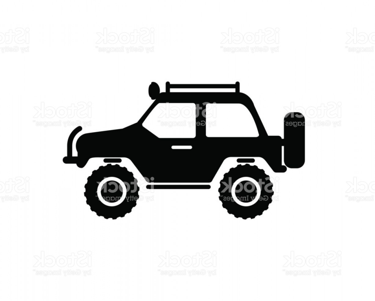 Jeep Off-Road Vector Art: Jeep Travel Icon On White Background Gm