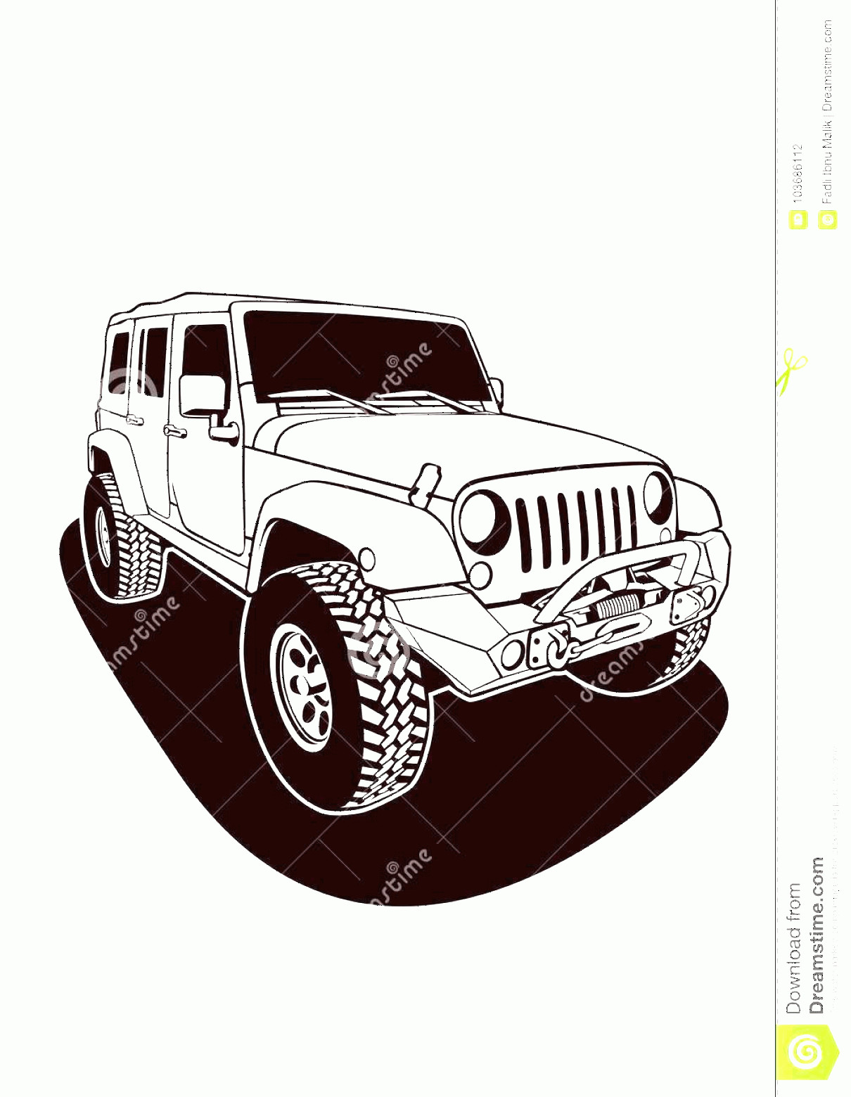 Vector Jeep JK: Jeep Wrangler Models Features Options Single Chart Jeep Rubicon Vector Image