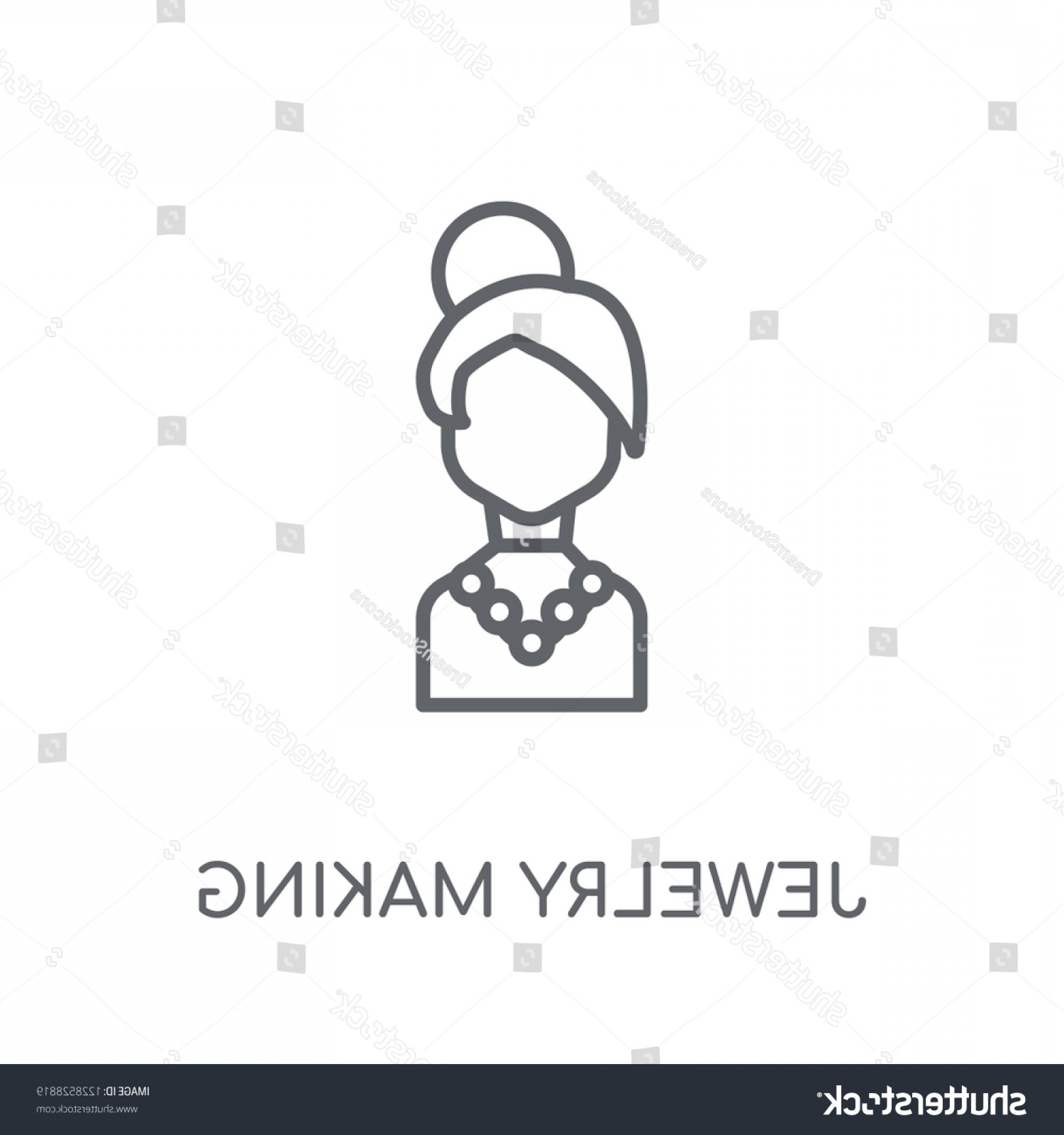Jewelry Manufacturing Icon Vector: Jewelry Making Linear Icon Modern Outline