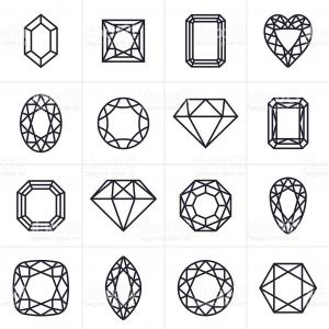 Jewelry Vector Line Art: Vector Set Of Jewellery Icons Gm