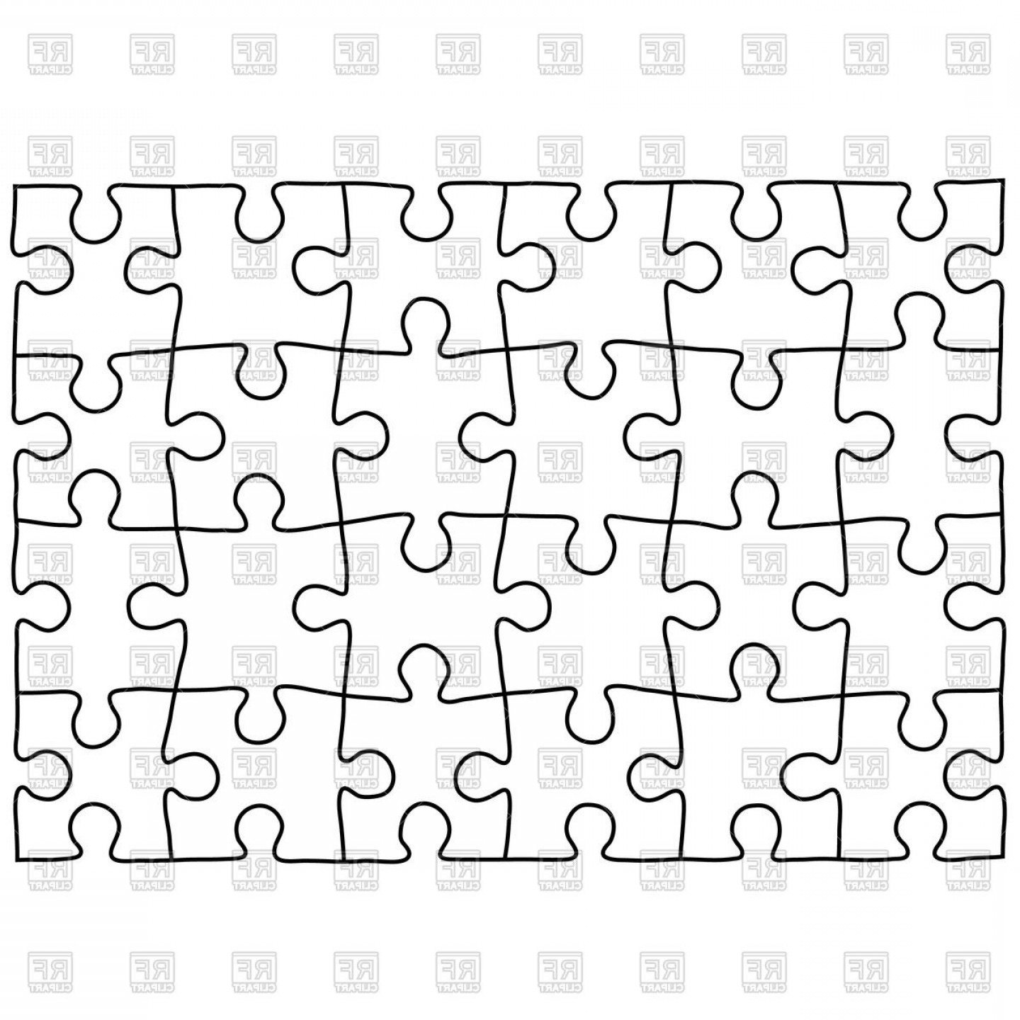 Puzzle In Vector Format: Jigsaw Puzzle Background Vector Clipart