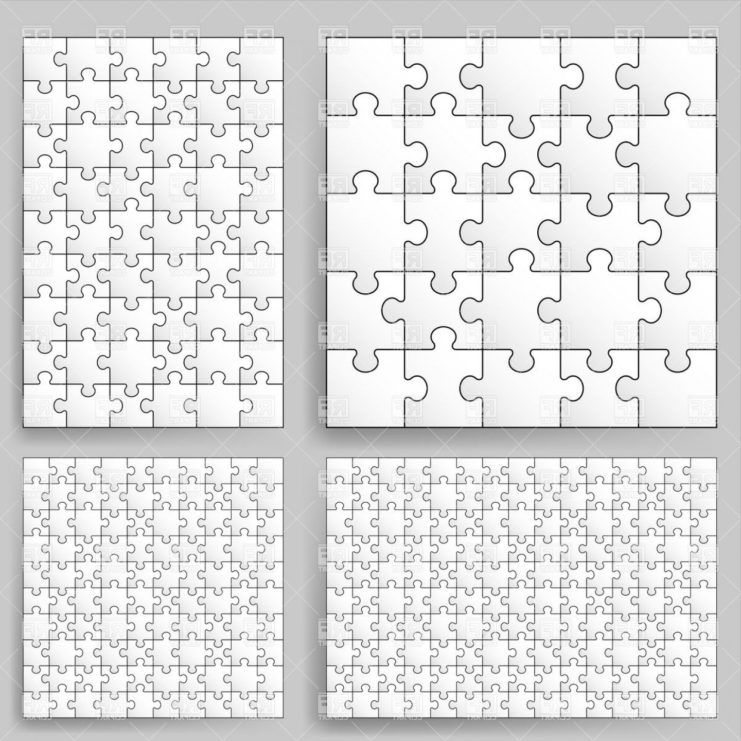 Puzzle In Vector Format: Jigsaw Puzzle Backgrounds Vector Clipart