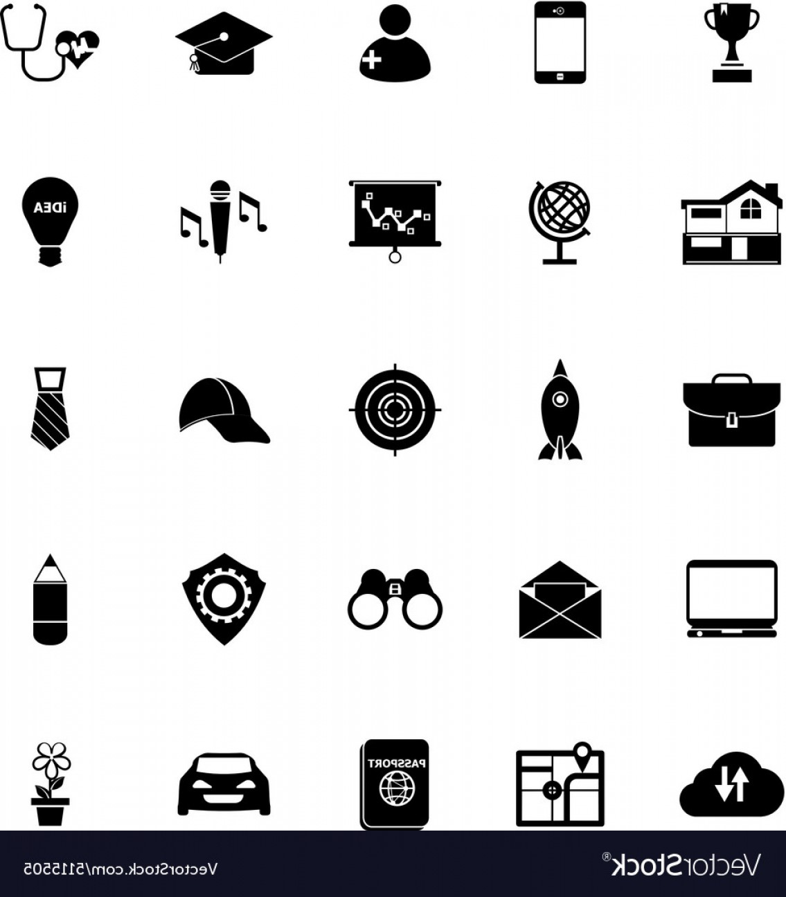 Vectors Job Description: Job Description Icons On White Background Vector