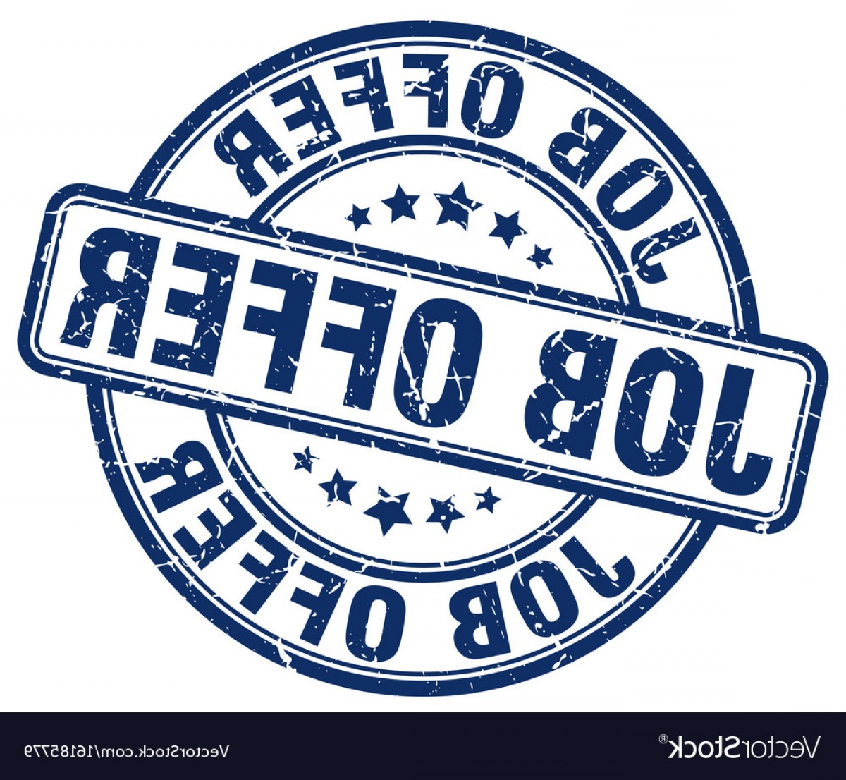 Vector Job Offer: Job Offer Blue Grunge Stamp Vector