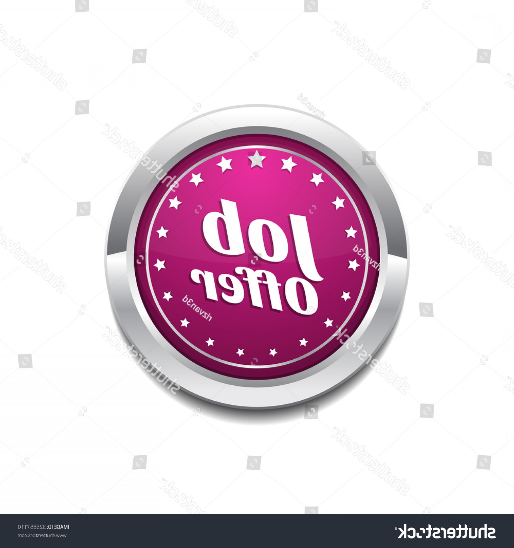 Vector Job Offer: Job Offer Pink Vector Button Icon
