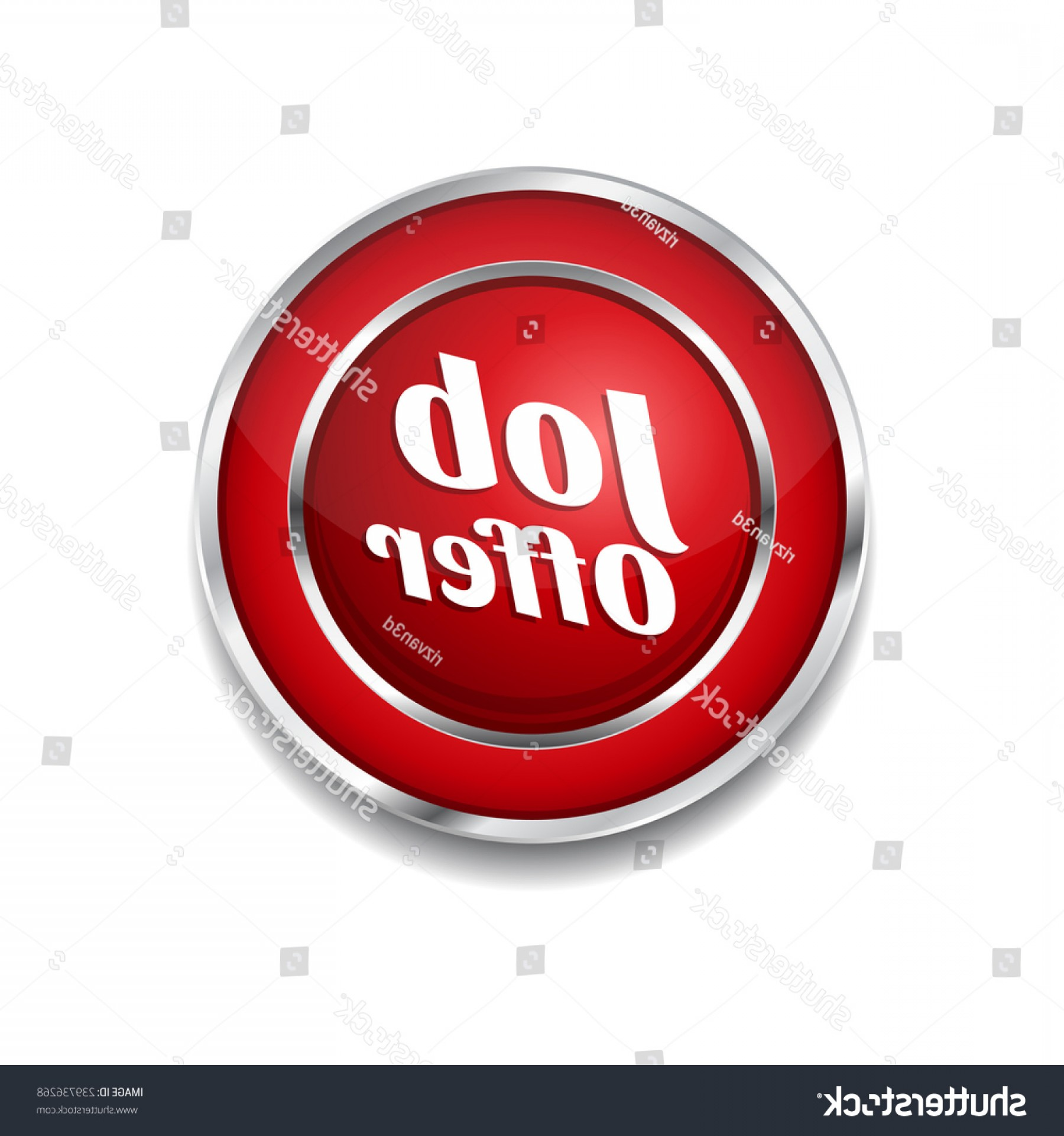 Vector Job Offer: Job Offer Red Vector Icon Button