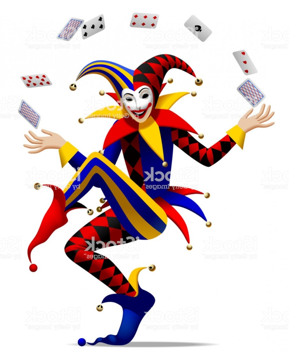 Joker Vector Graphics: Joker With Playing Cards Gm