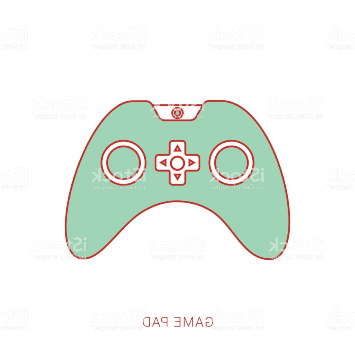 Xbox Game Controller Vector: Joystick Controller Game Pad Flat Style Gm