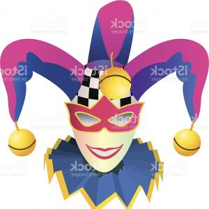 Joker Smile Vector Art: Joker Head Jester Icon Buffoon Symbol Gm