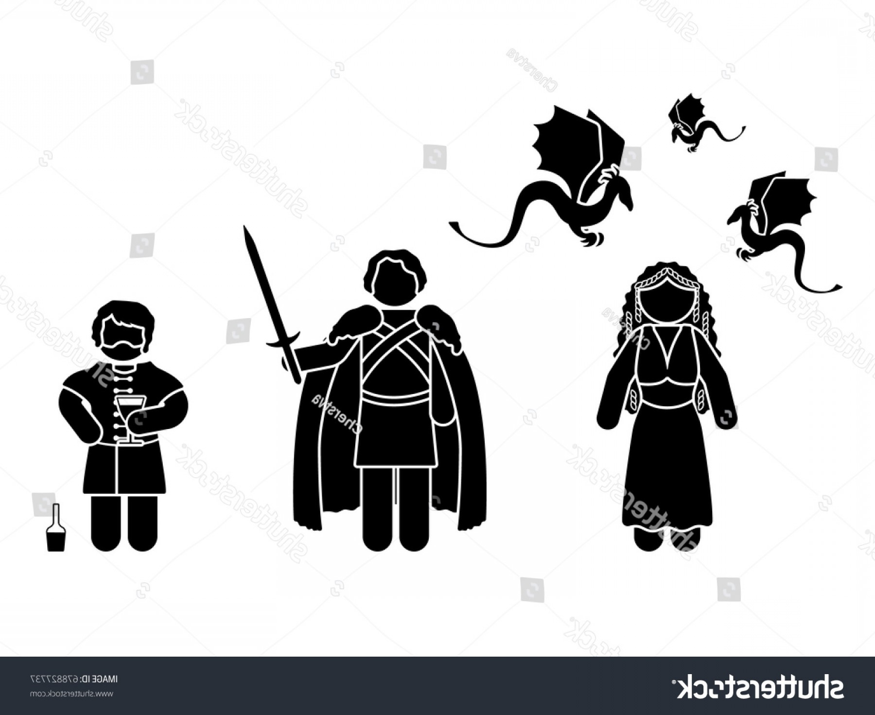 Game Of Thrones Sword Silhouette Vector: July Vector Illustration Figures