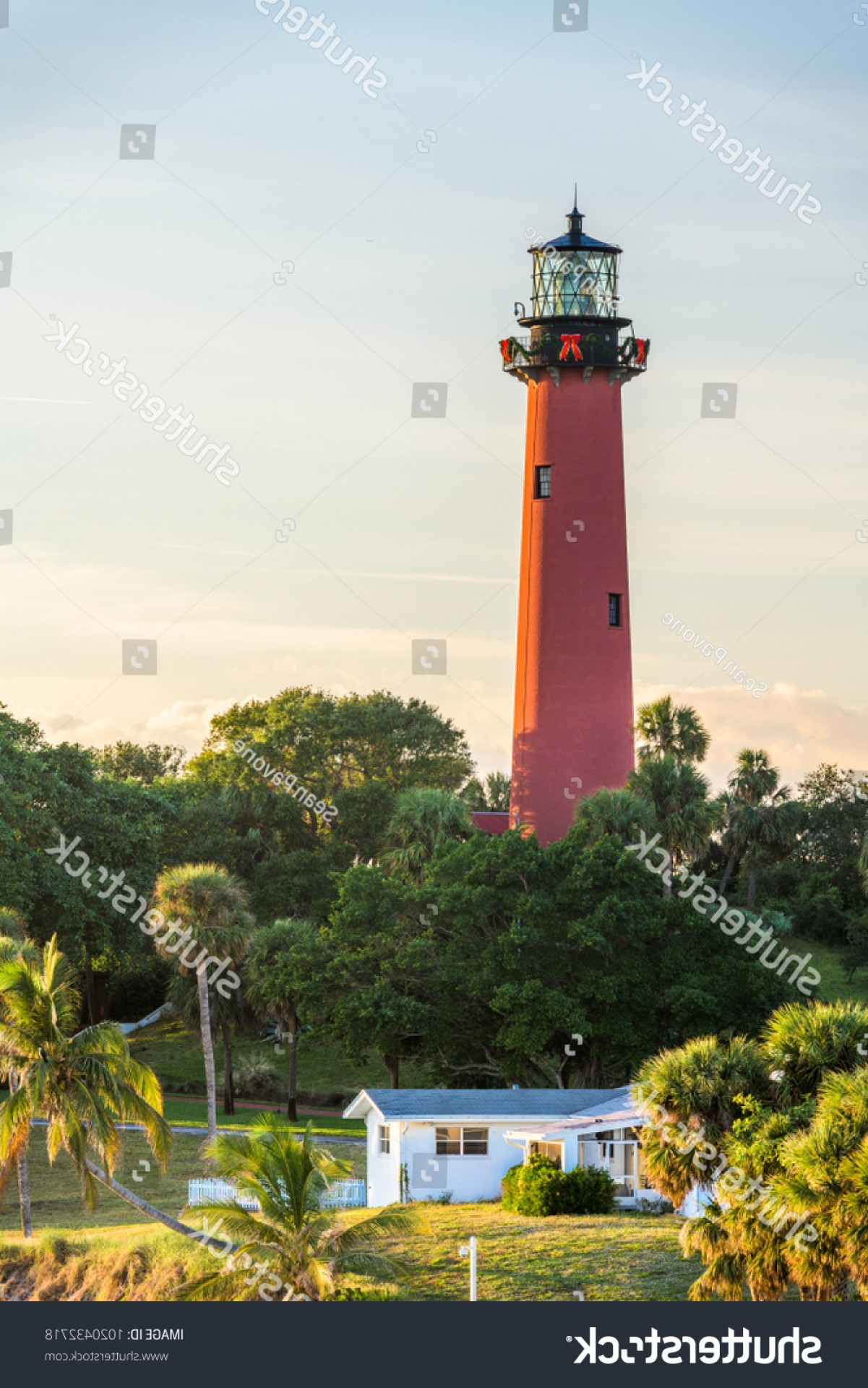 Jupiter Lighthouse Vector: Jupiter Florida Usa Inlet Light