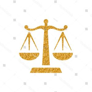 Vector Scale- Free: Justice Scale Icon Gold Glitter Texture