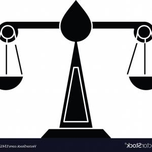 Lawyer Scale Vector: Justice Scale Law Symbol Pictogram Vector