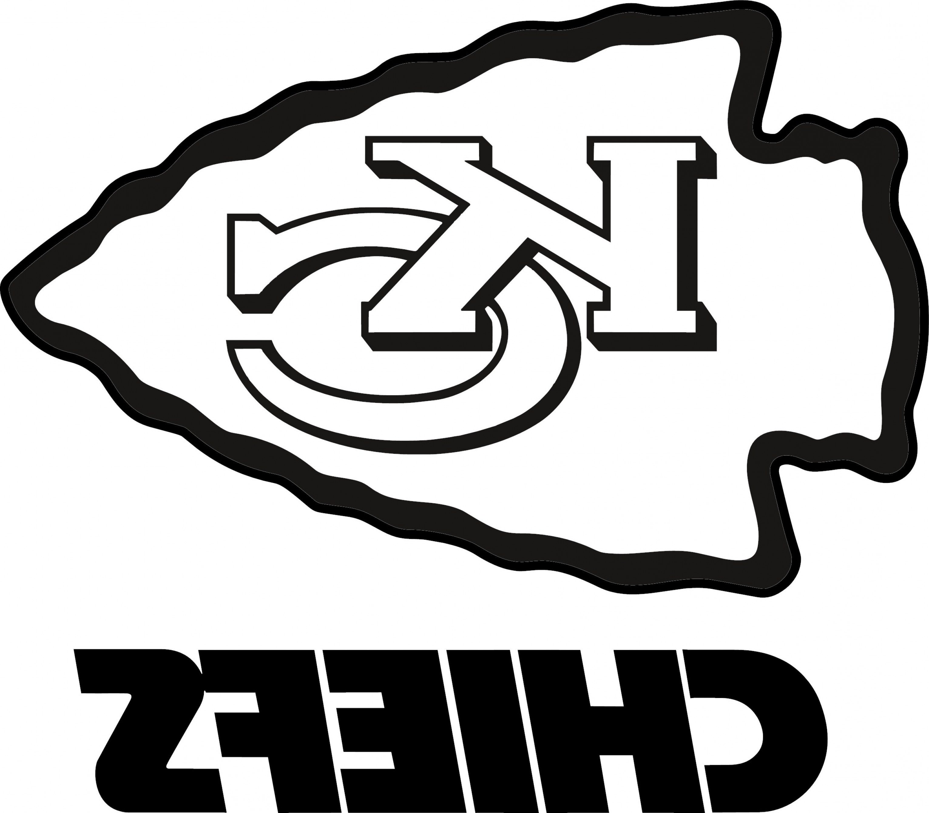 Vector NFL Logo Black And White: Kansas City Chiefs Vector Png
