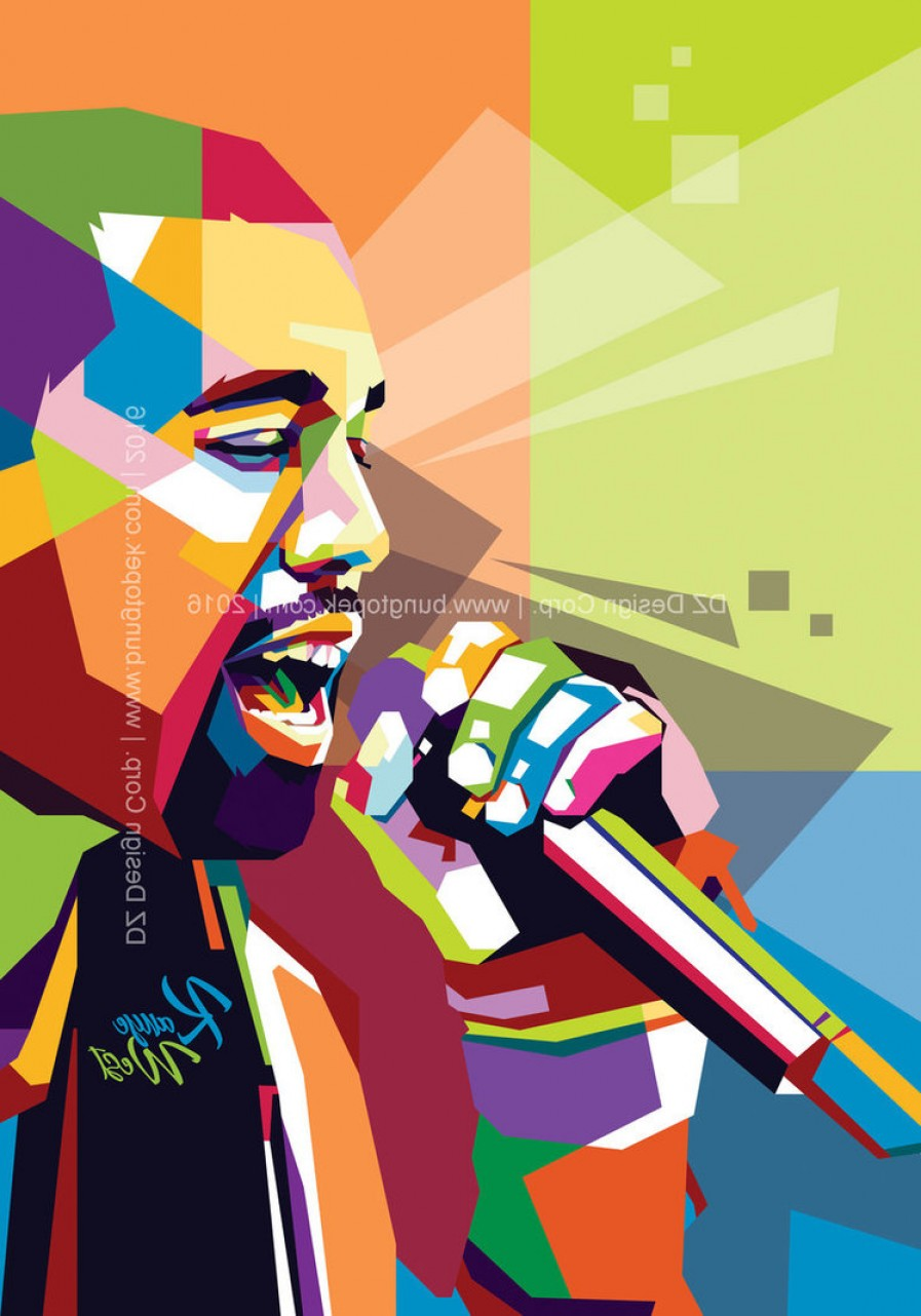 Kanye West Vector Paintig: Kanye West In Pop Art Portrait