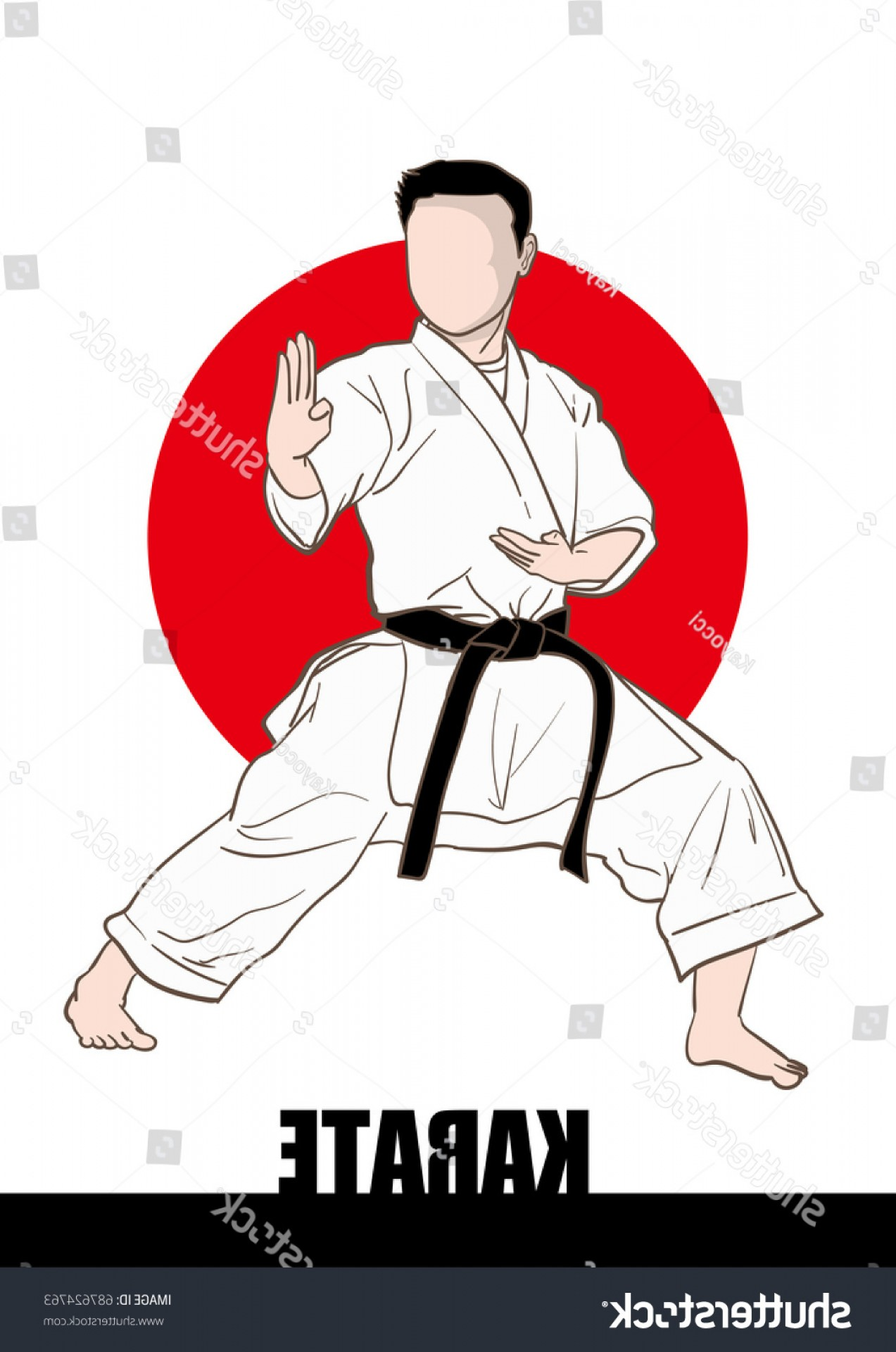 Karate Vector: Karate Vector Material Japanese Culture