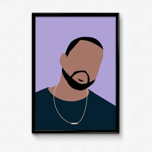 Kanye West Vector Paintig: The Beautiful Colors Of Kanye West