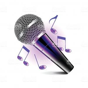 Karaoke Vector: Karaoke Icon Isolated On White Vector Gm