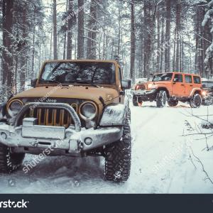 Jeep Wrangler Unlimited Vector Art: Karelian Isthmus Leningrad Region Russia January