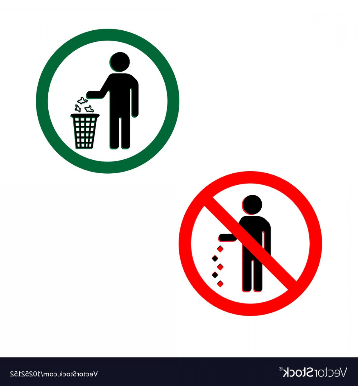 Vector Do Not: Keep Clean Icons Do Not Litter Sign Vector