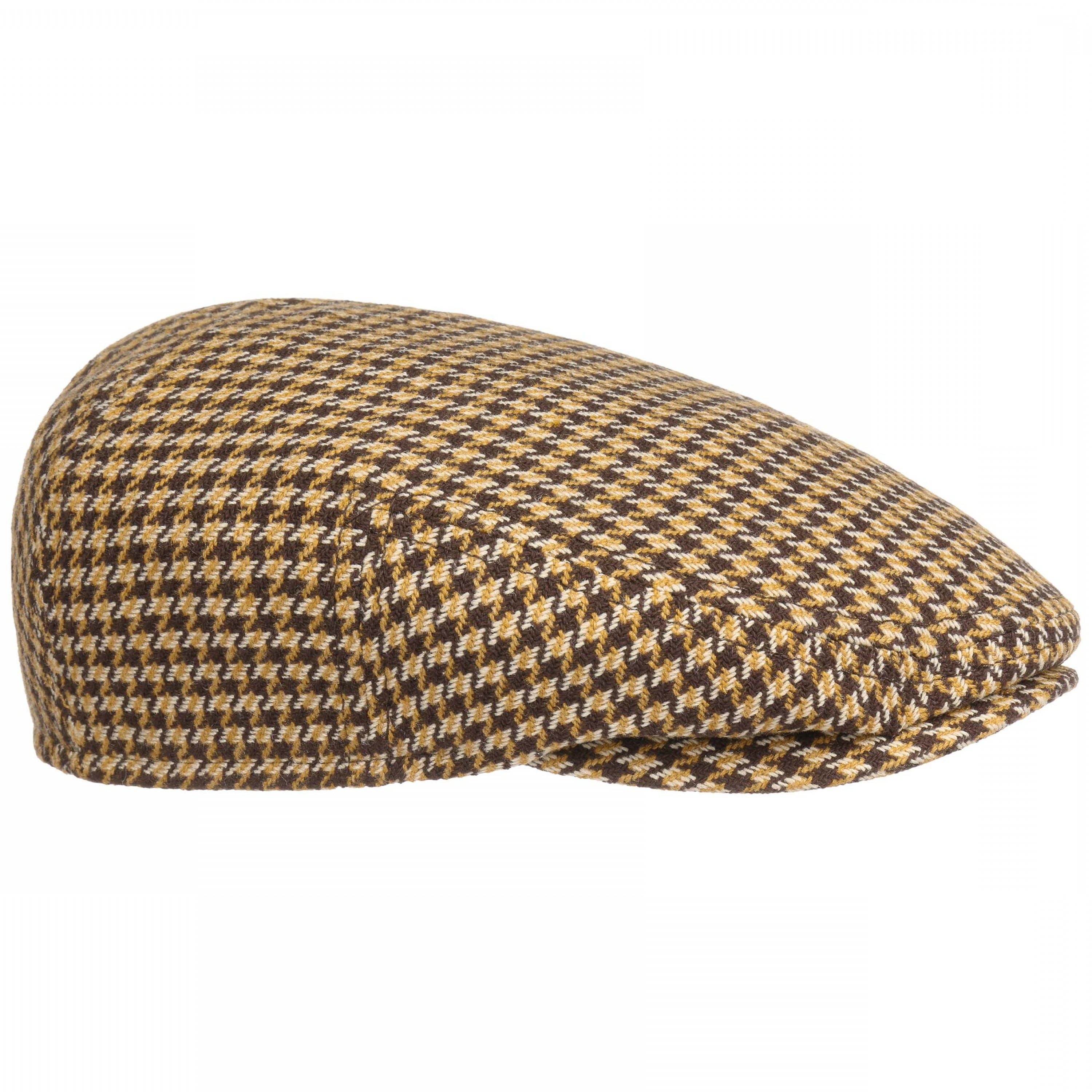 Houndstooth Hats Vector: Kent Silk Houndstooth Flat Cap By Stetson
