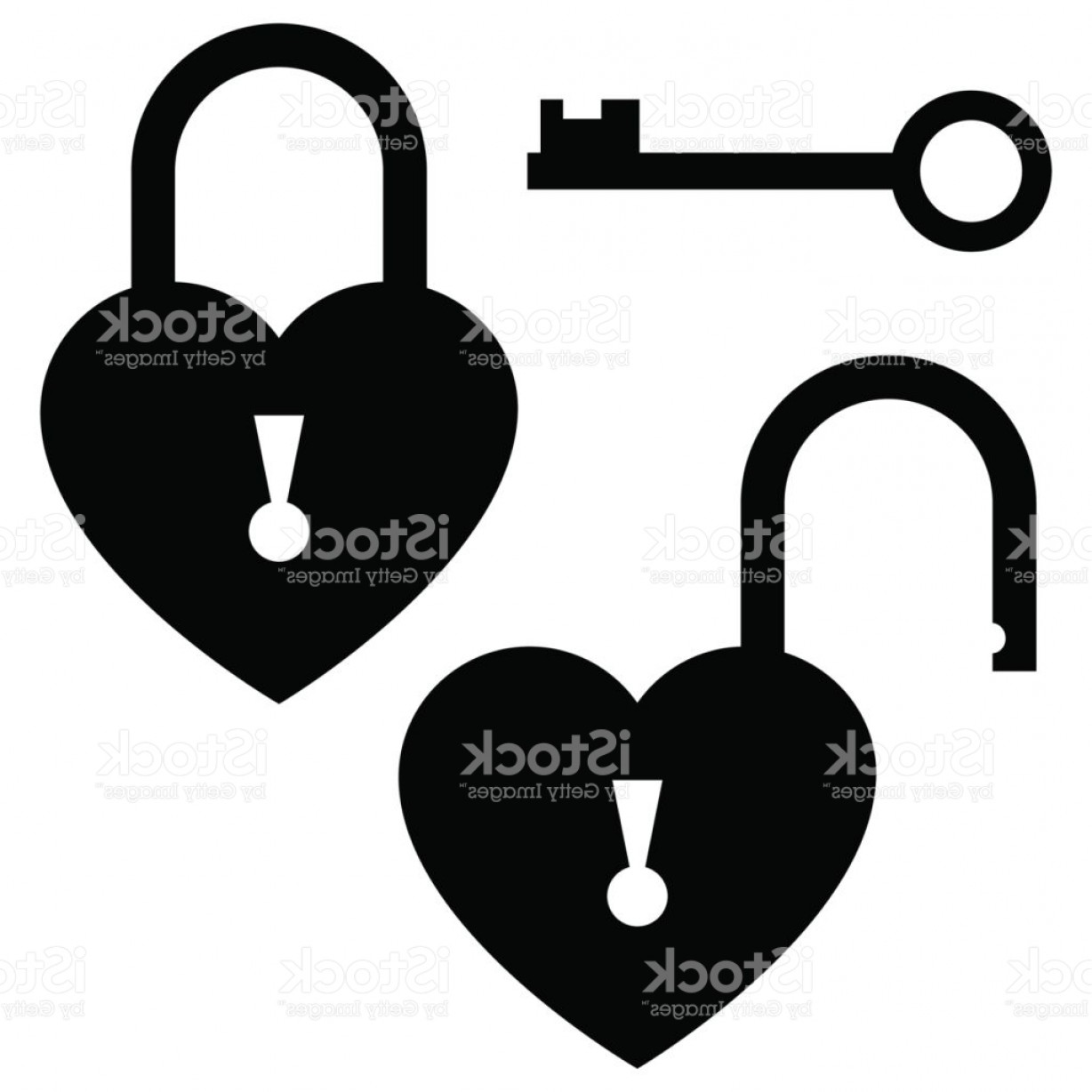 Heart Lock Vector: Key To The Heart Door Lock Icon St Valentines Day Concept Vector Illustration Gm