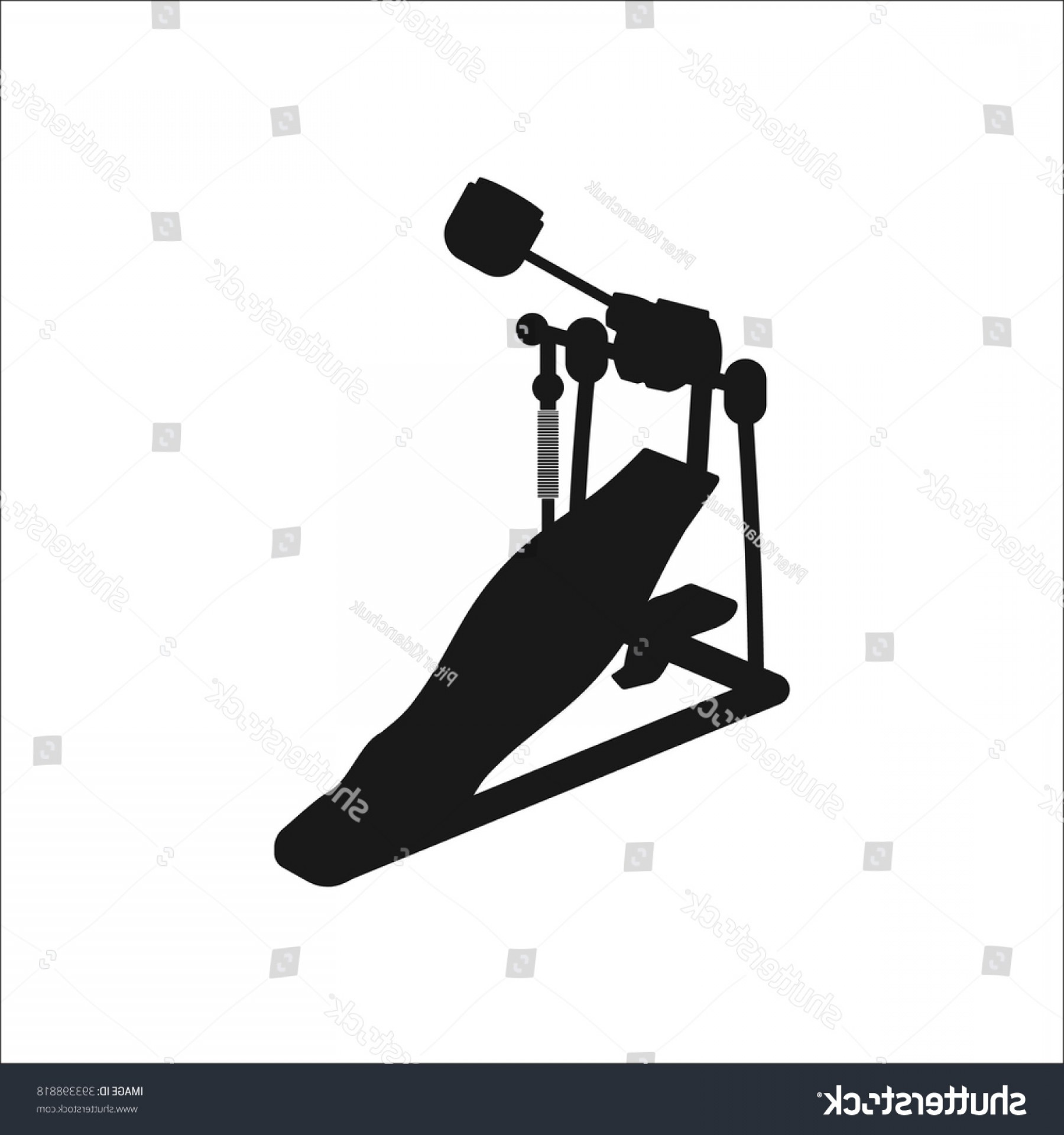Kick Drum Vector: Kick Drum Pedal Simple Icon On