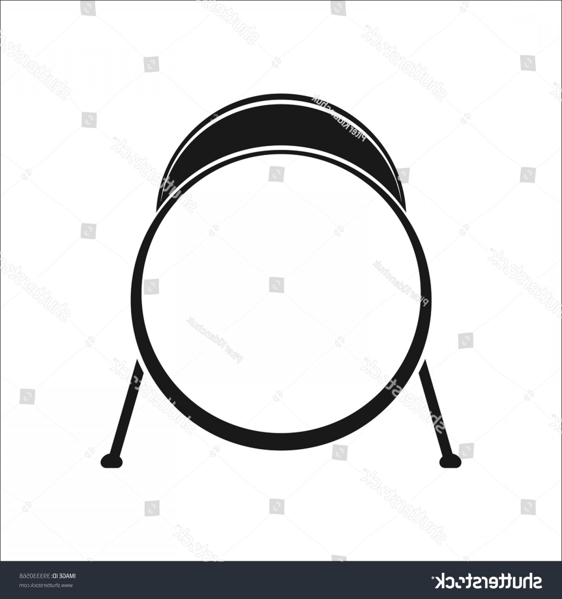 Kick Drum Vector: Kick Drum Simple Icon On White