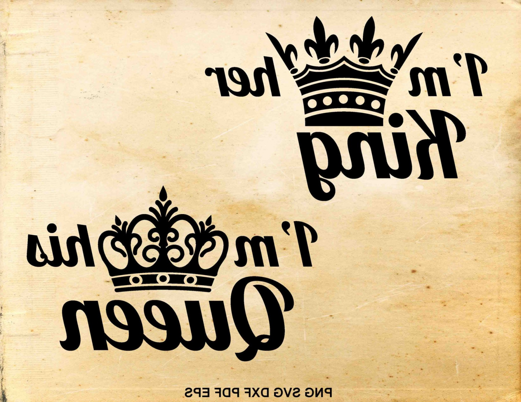 King And Queen Vector: King And Queen Svg Files Wedding Svg His