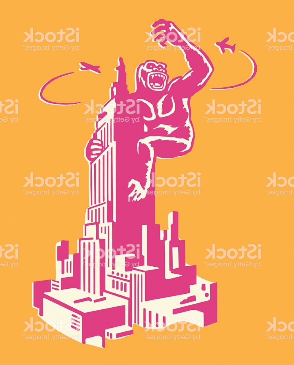 Drawings Of King Kong Vector: King Kong On Empire State Building Gm