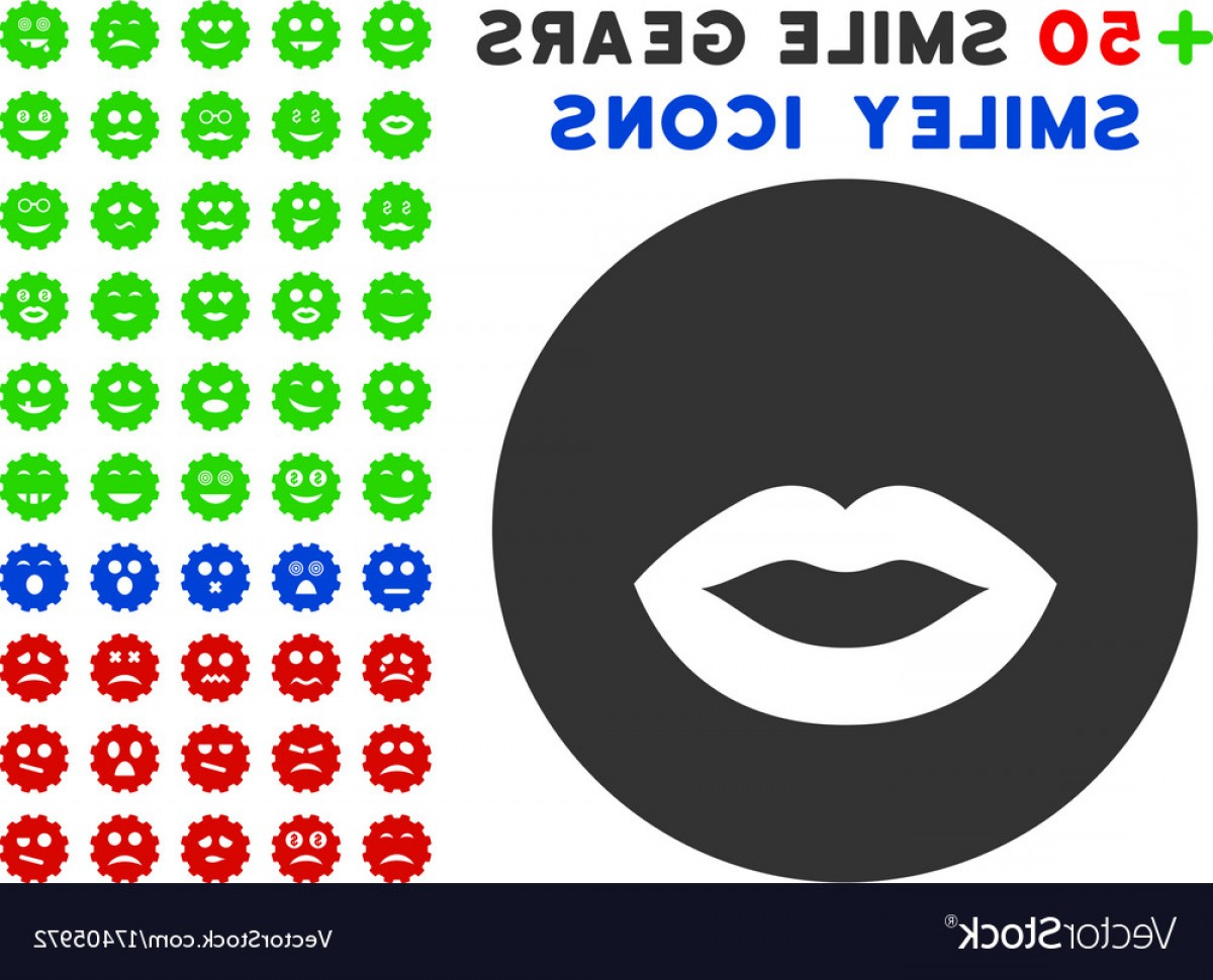 Kiss Clip Art Vector: Kiss Smiley Icon With Bonus Avatar Clipart Vector